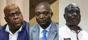 Frontrunners: From the left, Felix Tshisekedi, Emmanuel Ramazani Shadary and Martin Fayulu.  By JOHN THYS, Junior D. KANNAH, JOHN WESSELS (AFP)