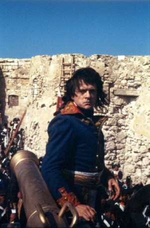 French actor and director Patrice Chereau is seen as Napoleon Bonaparte in Cairo on June 16, 1984, during the shooting of 'Adieu Bonaparte'.  By MICHEL GARIN (AFP/File)