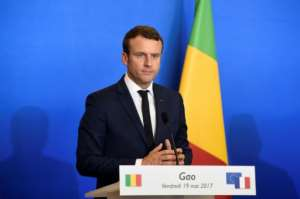French President Emmanuel Macron flew into Gao, a city in deeply-troubled northern Mali, where 1,700 French troops are based