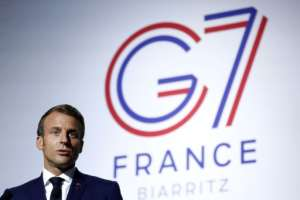 French President Emmanuel Macron has lobbied relentlessly for donations for the G5 Sahel force.  By Ian LANGSDON (POOL/AFP/File)