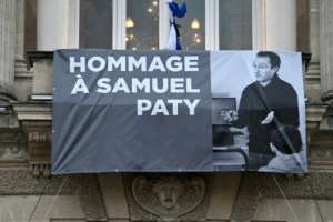 French teacher Samuel Paty was beheaded for showing cartoons of the Prophet Mohamed in his civics class.  By Pascal GUYOT (AFP/File)