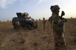 French troops in Burkina Faso last year. France has deployed 5,100 troops in the Sahel in its Barkhane anti-jihadist mission..  By MICHELE CATTANI (AFP/File)