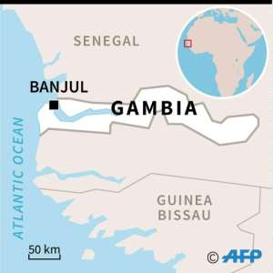 Gambia is a small West African country surrounded by Senegal.  By afp (AFP)