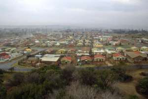 A general view shows a section of the Soweto township.  By Philippe Desmazes (AFP/File)