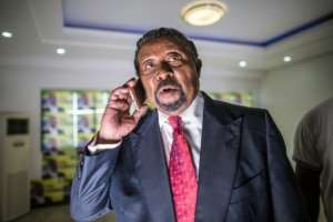 Gabonese opposition leader Jean Ping pictured on August 28, 2016