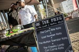 Get your kota here -- street vendors wait for customers.  By GIANLUIGI GUERCIA (AFP)