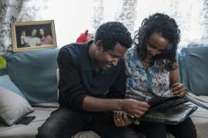 Getahun Fetana and his wife Emebet Melaku met during the festival and fell in love.  By EDUARDO SOTERAS (AFP/File)