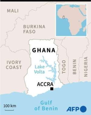 Map of Ghana.  By  (AFP)