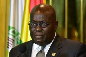 Ghana's President Nana Akufo-Addo told a news conference to mark his first year in power that the extremist threat was