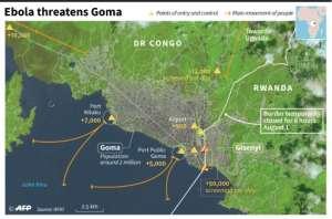 Goma and Gisenyi.  By Simon MALFATTO (AFP)