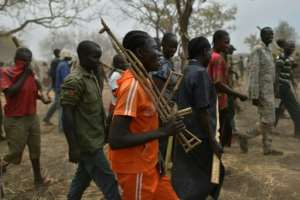 Government soldiers and rebels are being brought together under an initiative to form a new, unified army under South Sudan's peace deal.  By TONY KARUMBA (AFP)