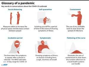 Glossary of a pandemic.  By John SAEKI (AFP)