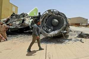 GNA forces reseized Tripoli International Airport on the capital's southern edges on Wednesday.  By Mahmud TURKIA (AFP)