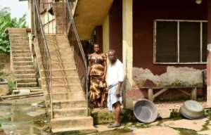 Grace and Sunday Otoide's home in Benin City threatens to fall down at any moment