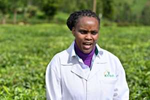 Grace Mogambi, the Kenya Tea Development Agency's manager of specialty products, says
