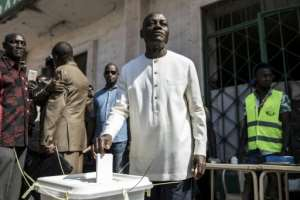 Guinea Bissau's incumbent president Jose Mario Vaz came fourth in the first round.  By JOHN WESSELS (AFP/File)