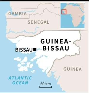 Guinea-Bissau compared to neighbouring countries on key indicators..  By Bruno Kalouaz (AFP)