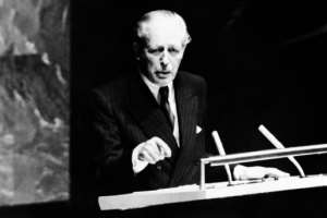 Harold Macmillan delivers his Wind of Change speech.  By - (AFP/File)