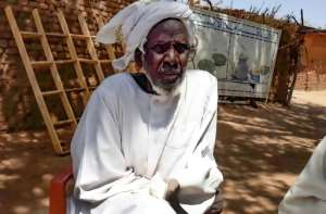 Hassan Isaac Mohamed, an internally displaced person who escaped fighting in Sudan's Darfur region and lives in Camp Kalma.  By - (AFP)