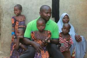 Hauwa's father Musa Maina insists he has not given up hope. By Audu Ali MARTE (AFP)