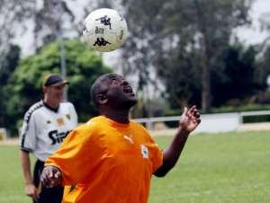 Heads up: Nkurunziza is an avid football fan (2008 file picture).  By KAMBOU SIA (AFP)