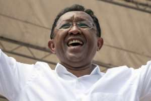 Hery Rajaonarimampianina served as finance minister before assuming the presidency in 2014.  By RIJASOLO (AFP)