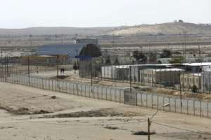 Holot detention centre, in the Negev desert, houses around 1,200 migrants