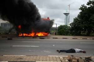 Human Rights Watch has condemned the Nigerian authority's 'rush to use firearms' against the protesters.  By Kola SULAIMON (AFP)