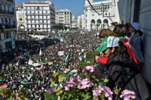 Hundreds of thousands of Algerians had taken to the streets in recent weeks demanding longtime leader Abdelaziz Bouteflika resign. By RYAD KRAMDI (AFP/File)