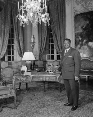 Hubert Maga, Benin's first president.  By  (AFP)