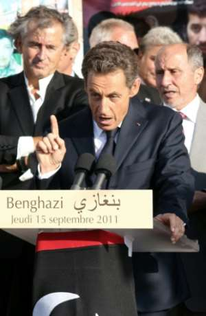 In 2011, Levy accompanied then French president Nicolas Sarkozy on the first visit to Libya by Western leaders after the NATO-backed overthrow of longtime dictator Moamer Kadhafi.  By ABDULLAH DOMA (AFP)
