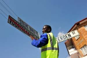In 2012, Voortrekkers Road in Pretoria, commemorating 19th-century Afrikaner settlers, was renamed Steve Biko Street, in honour of the slain anti-apartheid activist. But teachers say apartheid's invisible legacy is harder to change than street signs. By ALEXANDER JOE (AFP)
