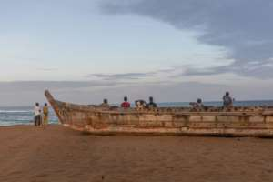In Togo, some 22,000 people rely on fishing to make a living along the tiny country's Atlantic shoreline.  By YANICK FOLLY (AFP)