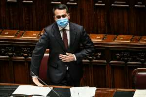 In addressing the Chamber of Deputies, Di Maio provided preliminary details of how the attack on the two vehicles unfolded.  By Filippo MONTEFORTE (POOL/AFP)