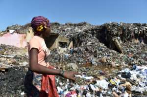 In Africa, 4.4 million tonnes of plastic are found in oceans and seas every year, according to United Nations figures from 2010.  By ISSOUF SANOGO (AFP)