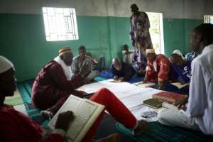 In Mali the mosques have remained open during Ramadan leaving the faithful free to gather and read the Quran.  By MICHELE CATTANI (AFP)