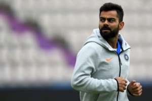 India captain Virat Kohli takes part in a World Cup training session in Southampton.  By Dibyangshu SARKAR (AFP)