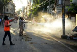 India has also imposed a nationwide lockdown to battle the coronavirus.  By Sanjay KANOJIA (AFP)