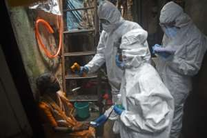 India is among the nations still battling its first wave of infections.  By Punit PARANJPE (AFP)
