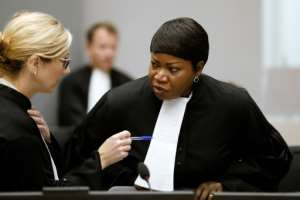 International Criminal Court prosecutors led by Fatou Bensouda (R) have detailed alleged atrocities by forces under former commander Bosco Ntaganda in DR Congo.  By Bas Czerwinski (ANP/AFP)