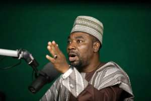 Isah says his aim is to give a voice to the voiceless.  By Kola Sulaimon (AFP)