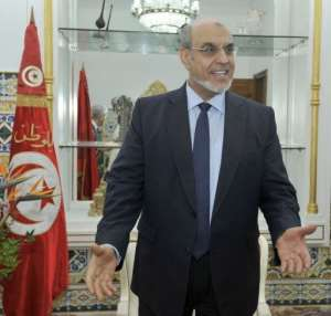 Tunisian Prime Minister Hamadi Jebali before a meeting with European Union's ambassadors in Tunis, on February 9, 2013.  By Fethi Belaid (AFP)