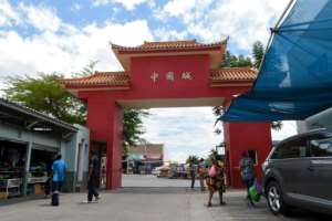 It's not usually this quiet in Windhoek's Chinatown.  By HILDEGARD TITUS (AFP)