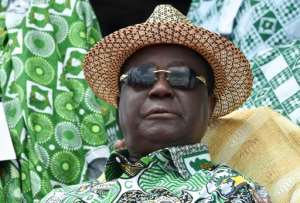 Ivory Coast former president Henri Konan Bedie, 86, has been officially nominated as his party's candidate for next month's election.  By SIA KAMBOU (AFP)