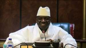 Jammeh is in exile in Equatorial Guinea.  By Handout (GRTS - Gambia Radio and Television Services/AFP/File)
