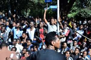 Jawar's supporters took to the streets, burned tyres and blocked roads following rumours that he had been mistreated by the security forces.  By STRINGER (AFP)