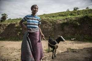 Josepha Mukaruzima, 70, a Tutsi woman whose entire family was killed. By Jacques NKINZINGABO (AFP)