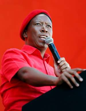 Julius Malema founded the Economic Freedom Fighters (EFF) after being kicked out of the ANC. By Phill Magakoe (AFP)