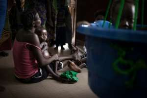 Just five paediatricians work in Bangui paediatric complex helping hundreds of sick children.  By FLORENT VERGNES (AFP)