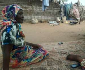 Kahdija Yusef, who still lives in the relocation camp where she found shelter after the feared Janjaweed militia destroyed her village, says only justice for Bashir and his henchmen can bring real peace to Sudan.  By - (AFP)